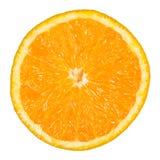 Aisló la naranja fresca con un fondo blanco fotografía de archivo