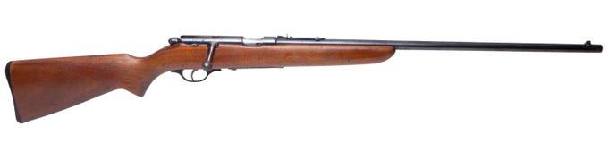 Aislado .22 rifle del calibre Imágenes de archivo libres de regalías