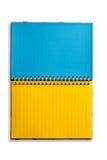 Aislado del cuaderno en blanco Foto de archivo libre de regalías