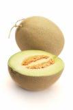Aislado del melón del cantalupo Foto de archivo