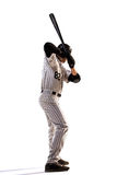 Aislado en el jugador de béisbol profesional blanco Imagen de archivo libre de regalías