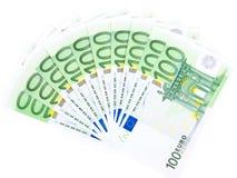 Aislado mil euros Imagen de archivo