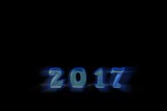 Aislado 2017 objetos reales 3d en el fondo blanco, concepto de la Feliz Año Nuevo Imagen de archivo libre de regalías
