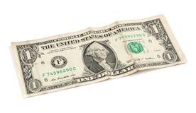 Aislado un billete de banco del dólar Fotos de archivo