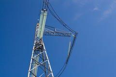 Aislador de alto voltaje de la línea de transmisión de la electricidad Fotografía de archivo