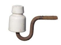 Aislador eléctrico de cerámica del vintage Fotos de archivo libres de regalías