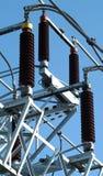 Aisladores de alto voltaje. Foto de archivo libre de regalías