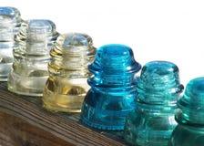 Aisladores de cristal   Imagenes de archivo