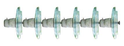 Aisladores de cristal eléctricos Fotografía de archivo libre de regalías
