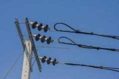 Aisladores para el alto voltaje Imagen de archivo libre de regalías