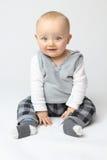 Aislamiento blanco del bebé fotografía de archivo