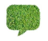 Aislante abstracto de la charla de la burbuja de la hierba verde Imágenes de archivo libres de regalías