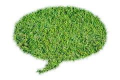Aislante abstracto de la charla de la burbuja de la hierba verde Fotografía de archivo libre de regalías