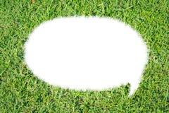 Aislante abstracto de la charla de la burbuja de la hierba verde Imagen de archivo