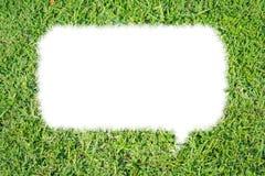 Aislante abstracto de la charla de la burbuja de la hierba verde Foto de archivo libre de regalías