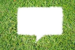 Aislante abstracto de la charla de la burbuja de la hierba verde Fotografía de archivo