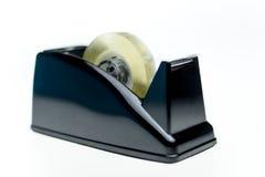 Aislante claro de la textura de la cinta adhesiva en el fondo blanco Imagen de archivo