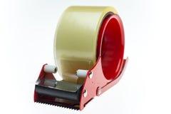 Aislante claro de la textura de la cinta adhesiva en el fondo blanco Foto de archivo