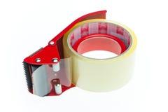 Aislante claro de la textura de la cinta adhesiva en el fondo blanco Imágenes de archivo libres de regalías