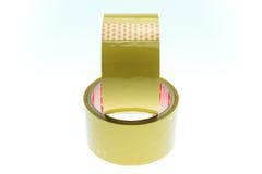 Aislante claro de la textura de la cinta adhesiva en el fondo blanco Fotos de archivo