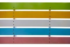 Aislante colorido del banco para la decoración Fotografía de archivo