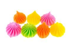 Aislante colorido del caramelo de Aalaw en el fondo blanco Foto de archivo libre de regalías