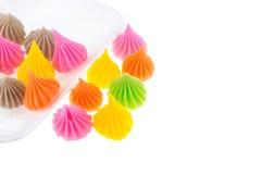 Aislante colorido del caramelo de Aalaw en el fondo blanco Imágenes de archivo libres de regalías
