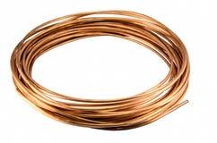 Aislante de cobre de la tubería Fotografía de archivo