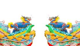 Aislante de la estatua del dragón del estilo chino Imágenes de archivo libres de regalías