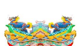 Aislante de la estatua del dragón del estilo chino Fotos de archivo libres de regalías