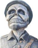 Aislante de la estatua del fantasma del pirata en el fondo blanco Fotos de archivo libres de regalías