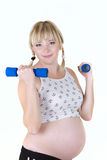 Aislante de la mujer embarazada Fotos de archivo