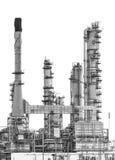 Aislante de la refinería de petróleo en el fondo blanco fotos de archivo