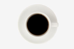 Aislante de la taza de café en el fondo blanco Imagen de archivo libre de regalías