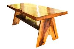 Aislante de madera de la teca del modelo de los muebles del jardín en el fondo blanco Imágenes de archivo libres de regalías