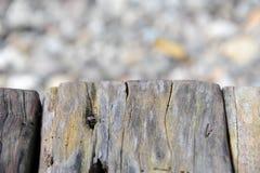 Aislante de madera viejo de la textura con la textura de piedra Foto de archivo