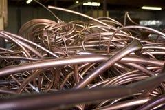 Aislante de tubo de cobre reciclado Foto de archivo libre de regalías