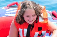 Aislante de tubo de la niña Imagen de archivo libre de regalías