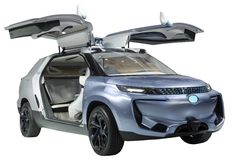 Aislante del cupé de SUV del concepto Imagenes de archivo