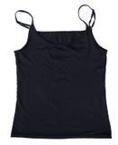 Aislante del desgaste del top sin mangas de la mujer en blanco Imagen de archivo