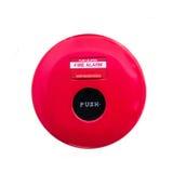 Aislante del fuego del interruptor de botón en blanco Fotografía de archivo