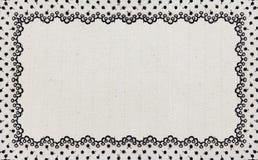 Aislante del marco de la tela del cordón de la frontera Fotografía de archivo