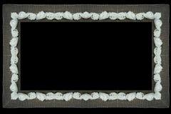 Aislante del marco de la tela del cordón de la frontera stock de ilustración