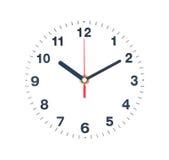 Aislante del reloj en blanco Fotos de archivo