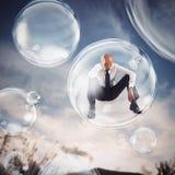 Aislante ellos mismos dentro de una burbuja Imagenes de archivo