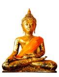 Aislante, imagen de Buddha en un templo Imagenes de archivo