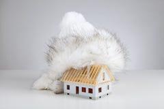 Aislante inacabado de la casa Fotografía de archivo libre de regalías