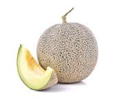 Aislante maduro del melón del cantalupo en un fondo y un x28 blancos; PA del recortes Fotografía de archivo libre de regalías