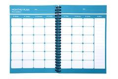 Aislante mensual del planificador (trayectoria de recortes) Imagen de archivo libre de regalías