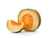 Aislante tailandés del melón del cantalupo en el fondo blanco Foto de archivo